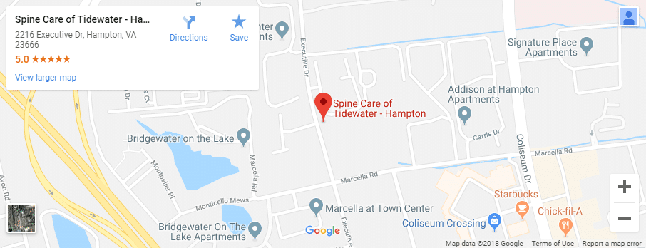 Hampton Chiropractor Map